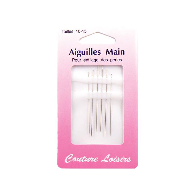 Beading Needles Size 10-15 (x6)