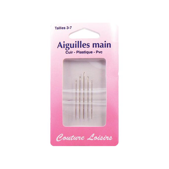 Aiguilles tranchantes pour Cuir Plastique PVC Taille 3-4 (x5)