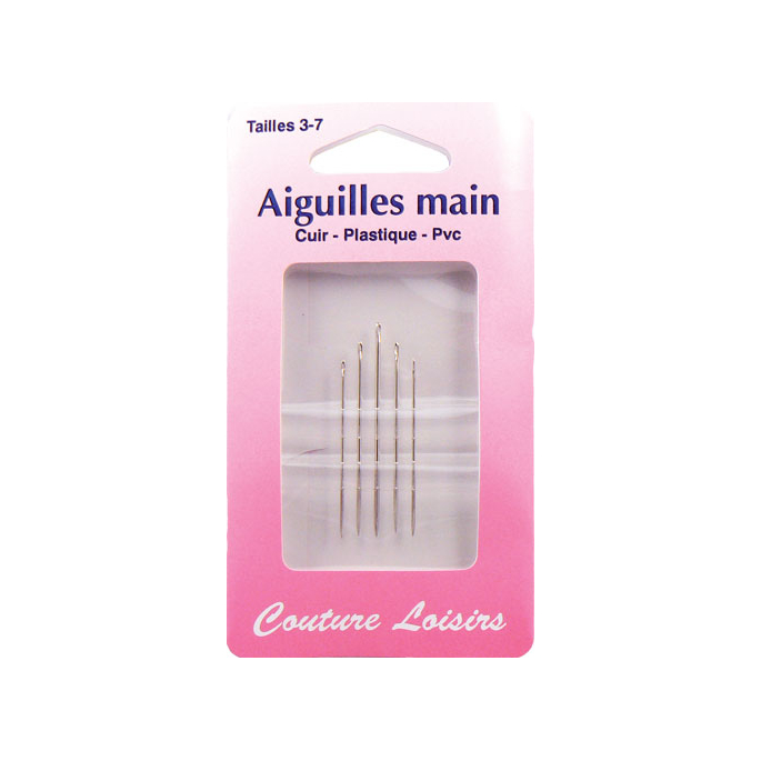 Sewing Needles for Leather-PVC-plastics Size 3-7 (x5)