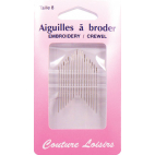 Embroidery Crewel Needles Size 8 (x20)