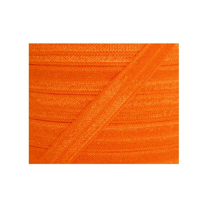Biais élastique lingerie Oekotex 15mm orange (bobine 25m)