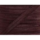 Biais élastique lingerie Oekotex 15mm marron (au mètre)