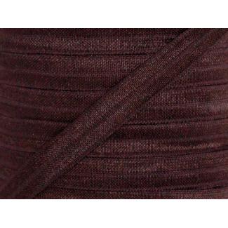 Shinny Fold Over Elastic Oekotex 15mm Brown (by meter)