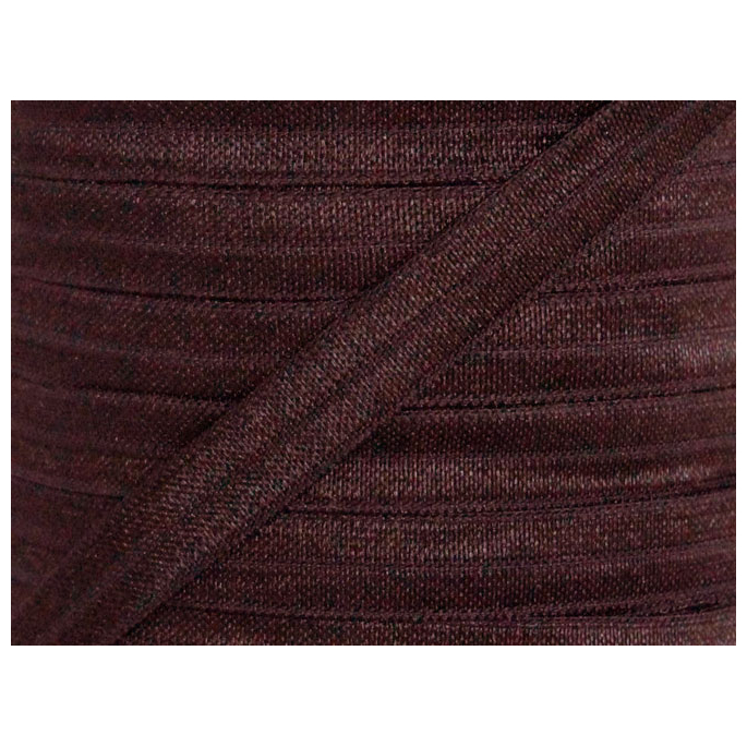 Shinny Fold Over Elastic Oekotex 15mm Brown (by meter)
