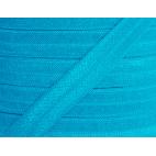 Shinny Fold Over Elastic Oekotex 15mm Turquoise (25m bobin)
