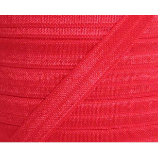 Shinny Fold Over Elastic Oekotex 15mm Red (25m bobin)