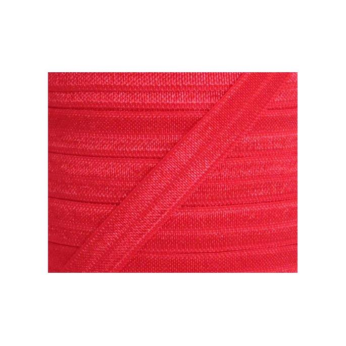 Shinny Fold Over Elastic Oekotex 15mm Red (25m bobin)