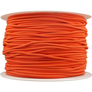 Elastique cordon 2mm Orange (au mètre)