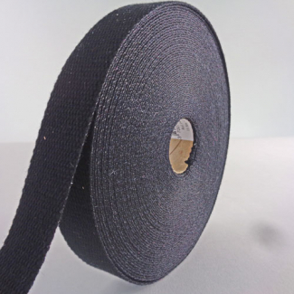 Cotton Webbing 23mm Black (15m roll)