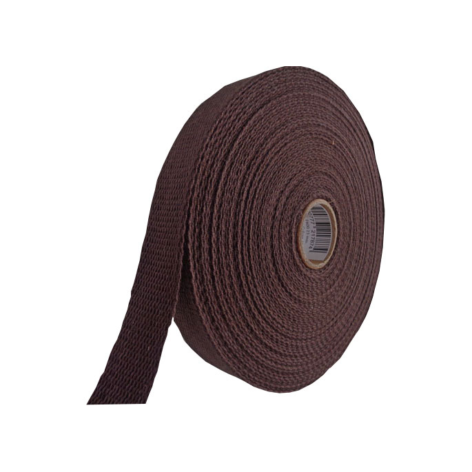 Cotton Webbing 23mm Chocolate (15m roll)