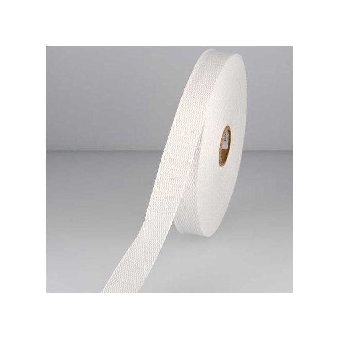 Sangle coton 30mm Blanc (au mètre)
