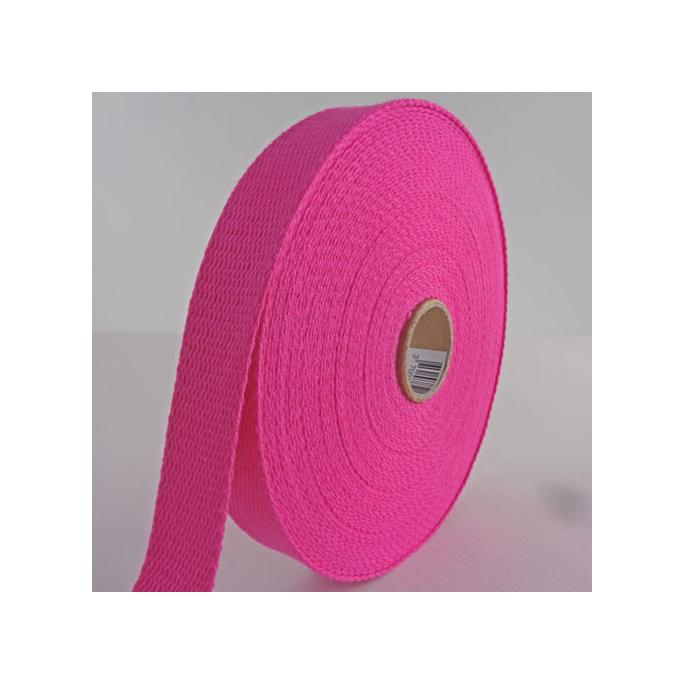 Cotton Webbing 23mm Pink (15m roll)