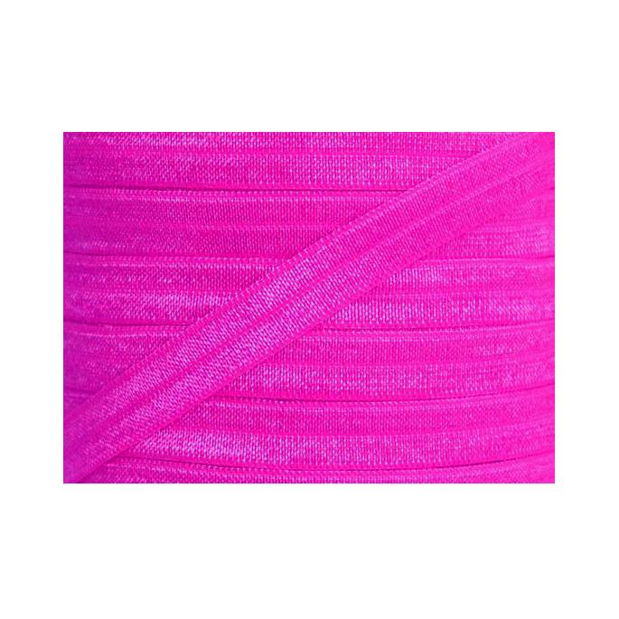 Shinny Fold Over Elastic Oekotex 15mm Bright Pink (25m bobin)