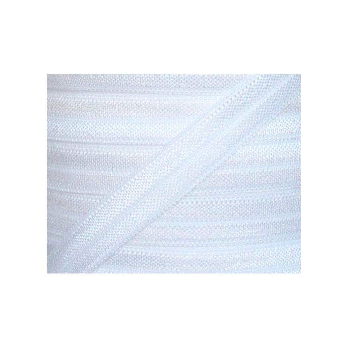 Biais élastique lingerie Oekotex 15mm blanc (bobine 25m)