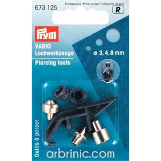 Piercing tools 3+4+8mm for Vario pliers