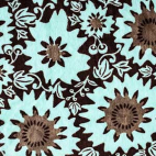 Minky - Fleurs Vertes chocolat - Robert Kaufman (au mètre)