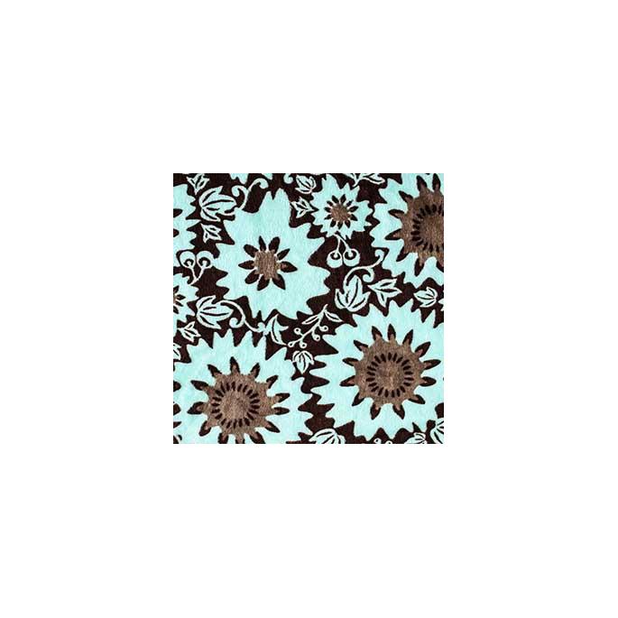 Minky - Green Flowers - Robert Kaufman (per meter)