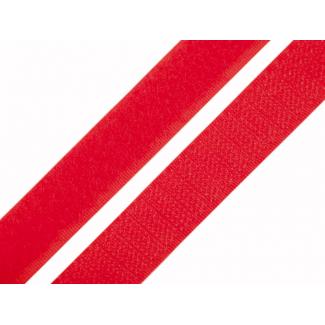 Scratch 3.0cm BOUCLE et CROCHET Rouge (au mètre)