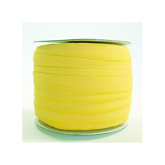 Biais élastique 2.5cm Jaune citron (1m)