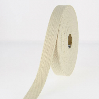 Cotton Webbing 23mm Ecru (by meter)