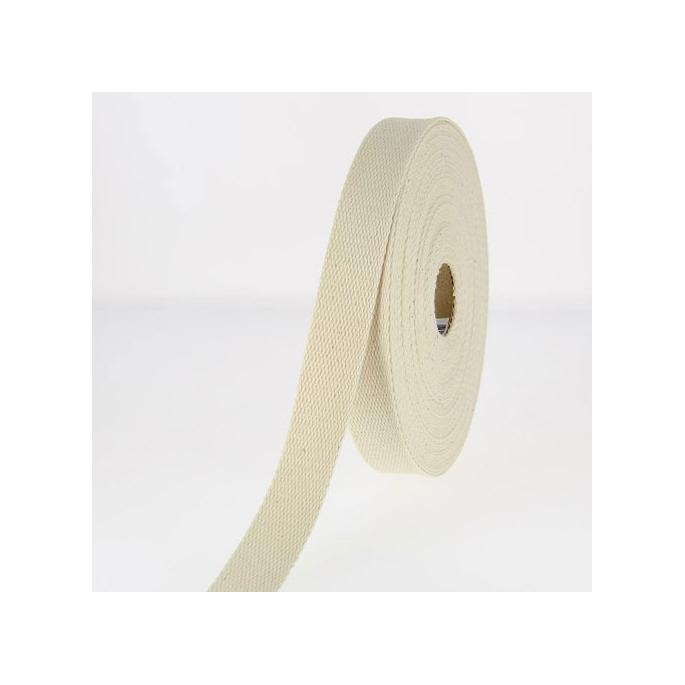 Sangle coton 23mm Ecru (au mètre)