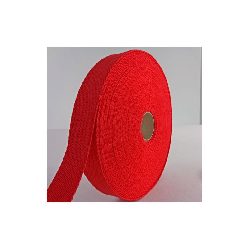 sangle coton 23mm rouge au m tre ar brinic. Black Bedroom Furniture Sets. Home Design Ideas
