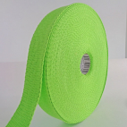 Cotton Webbing 23mm Green (by meter)