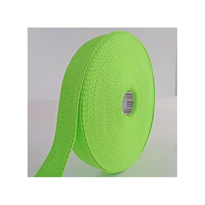 Sangle coton 23mm Vert (au mètre)