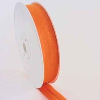 Single Fold Bias Binding 20mm Orange (by meter)