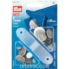 Jeans buttons 20mm Steel Artdeco with tool (x6)