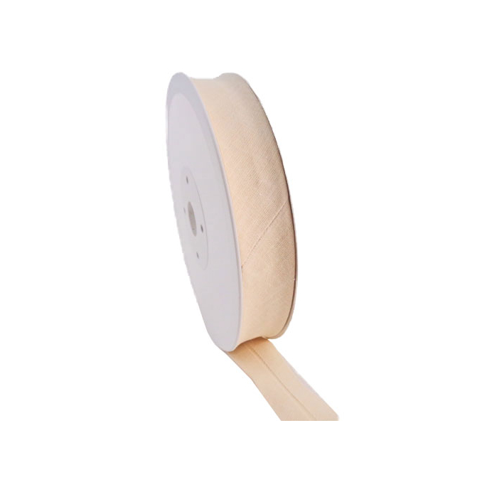 Single Fold Bias Binding 20mm Blanc (by meter)