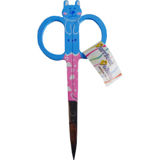 Cat Embroidery scissors Blue