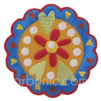 Iron-on Embroidery Patch Flowers