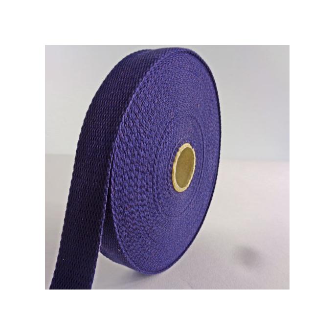Sangle coton 23mm Bleu Nuit (bobine 15m)
