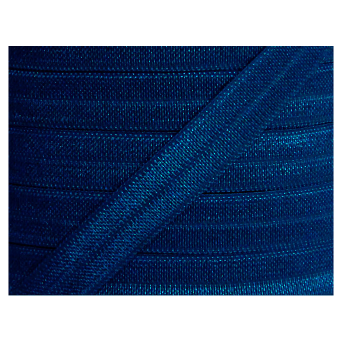 Shinny Fold Over Elastic Oekotex 15mm Navy blue (by meter)