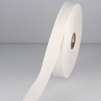 Cotton Webbing 30mm White (15m roll)