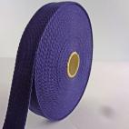 Sangle coton 30mm Bleu Nuit (au mètre)