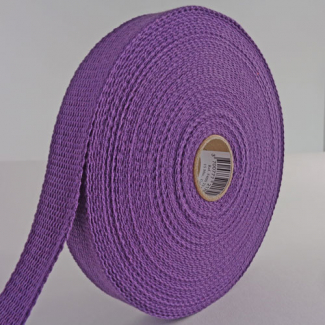 Cotton Webbing 23mm Purple (by meter)