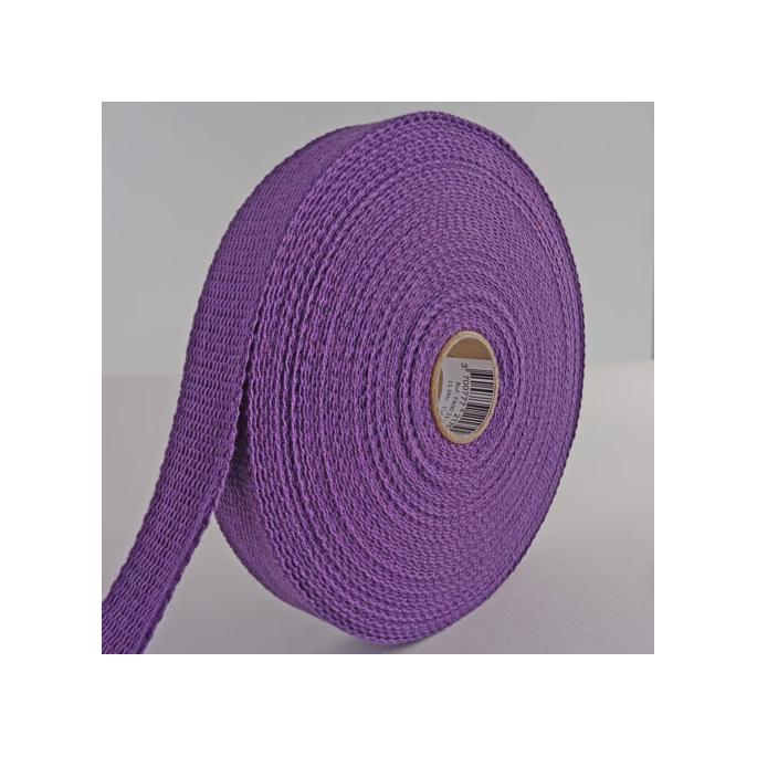 Sangle coton 23mm Violet (au mètre)