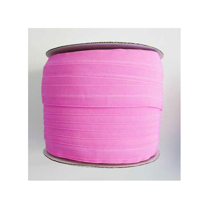 Biais élastique 2.5cm Bubblegum pink (1m)