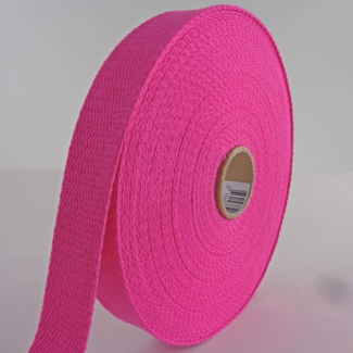 Cotton Webbing 23mm Pink (by meter)