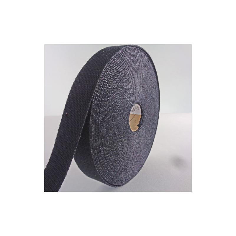 sangle coton 23mm noir au m tre. Black Bedroom Furniture Sets. Home Design Ideas
