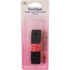Elastique Tresse 9mm Noir (2m)