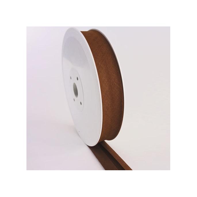 Single Fold Bias Binding 20mm Chocolate (by meter)