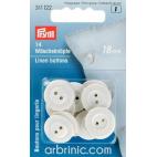 Boutons Lingerie 18mm - en fibre naturelle (14 boutons)