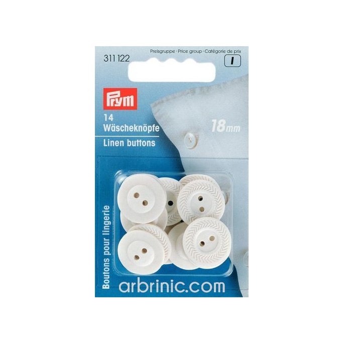 Linen Buttons 18mm - made of fiber (14 pieces)