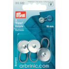 Rallonge Boutons 19mm - pour pantalons jupes ou chemises (x3)