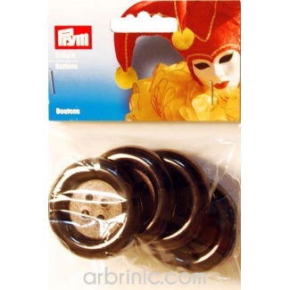 Plastic Buttons 50mm - Black (4 pieces)