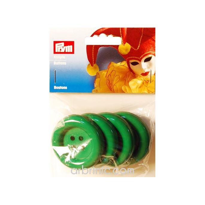 Boutons déguisement 50mm - Vert (4 boutons)