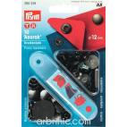 Press fasteners Anorak 12mm Black brass with tool (x10)
